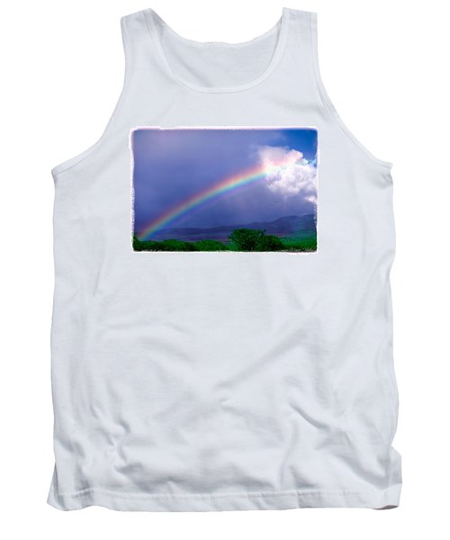 Tank Top featuring the photograph Maui Rainbow by Marie Hicks