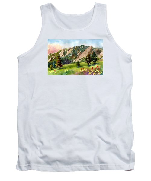 Tank Top featuring the painting Meadow At Chautauqua by Anne Gifford