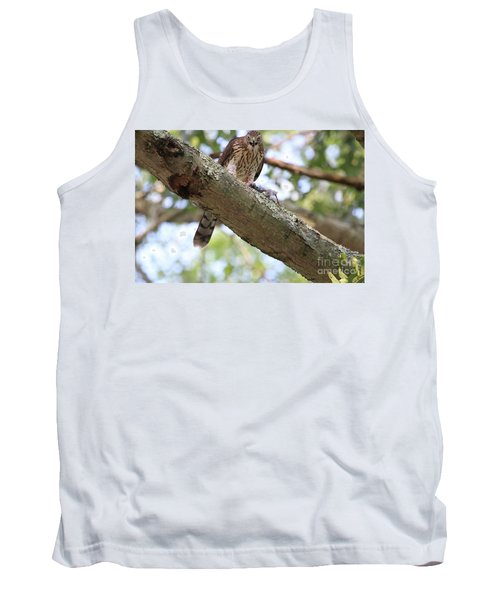 Mean Hawk At Dinner Time Tank Top