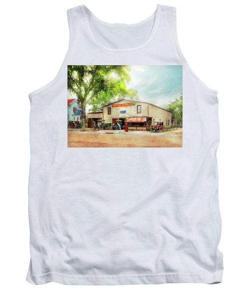 Tank Top featuring the photograph Mechanic - All Cars Finely Tuned 1920 by Mike Savad
