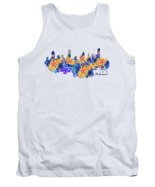 Melbourne Watercolor Skyline Tank Top