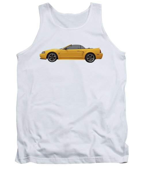 Tank Top featuring the photograph Mellow Yellow 1999 Mustang  by Gill Billington
