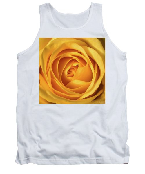 Tank Top featuring the photograph Mellow Yellow Rose Square by Terry DeLuco