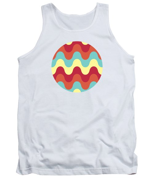 Melting Colors Pattern Tank Top