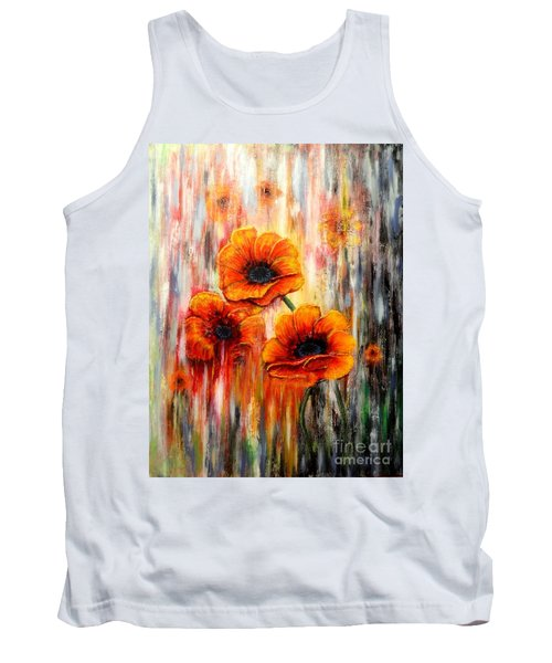 Melting Flowers Tank Top by Greg Moores