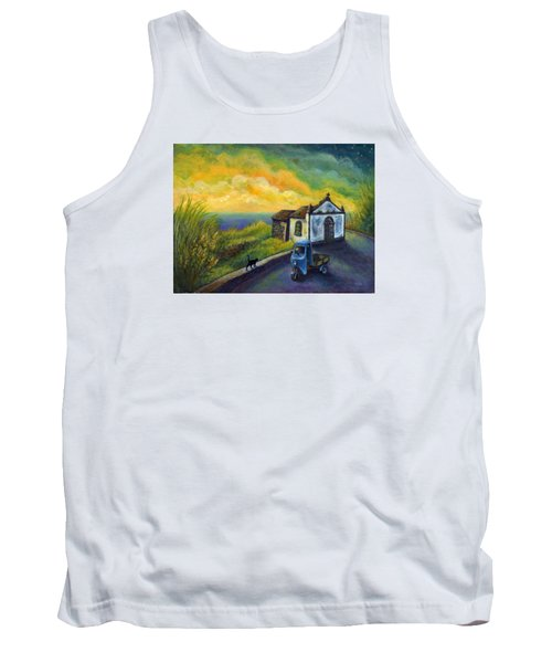 Memories Neath A Yellow Sky Tank Top by Retta Stephenson