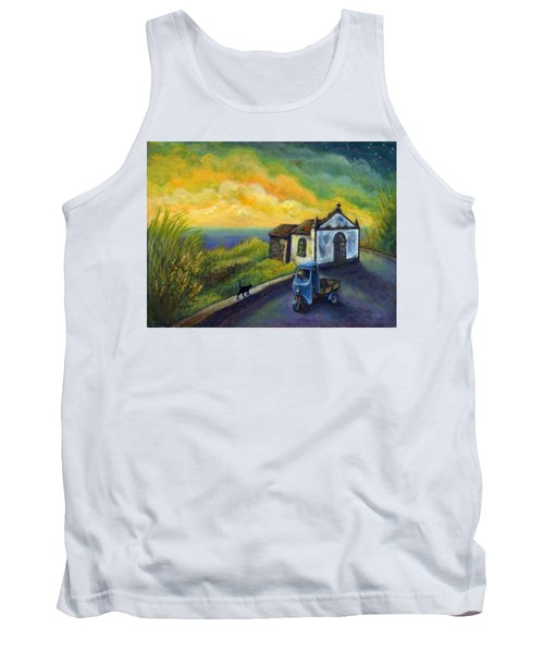 Memories Neath A Yellow Sky Tank Top