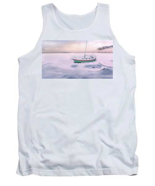 Tank Top featuring the photograph Memories Of Seasons Past - Prisoner Of Ice by John Poon