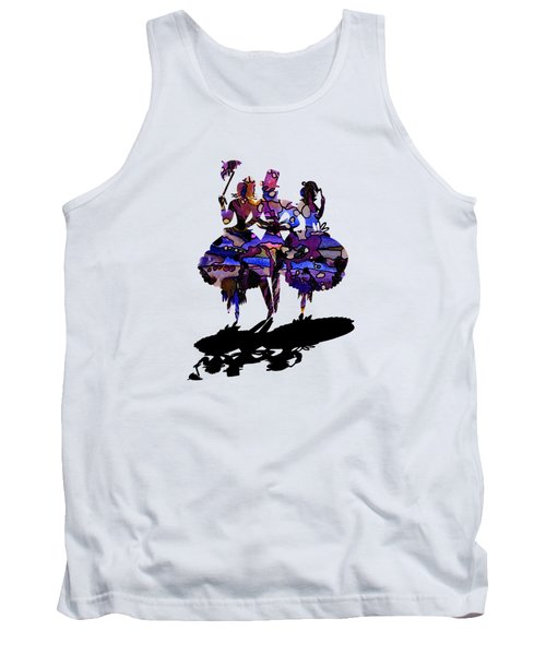 Menage A Trois On Transparent Background Tank Top