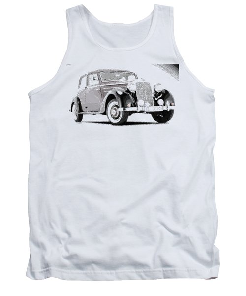 Mercedes Benz 170 S - Parallel Hatching Tank Top