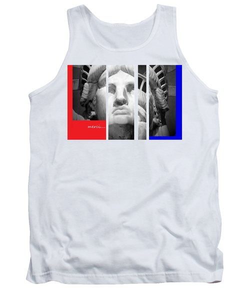 Tank Top featuring the mixed media Merci by Andrew Drozdowicz