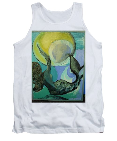 Mermaid Playing With The Sun  Tank Top
