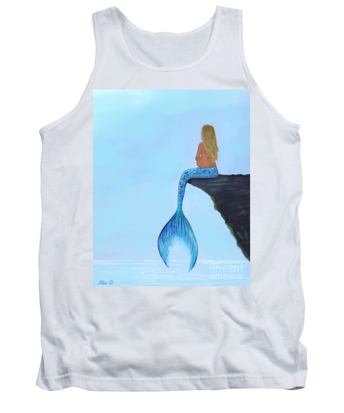 Tank Top featuring the painting Mermaids Bundle To Be by Leslie Allen