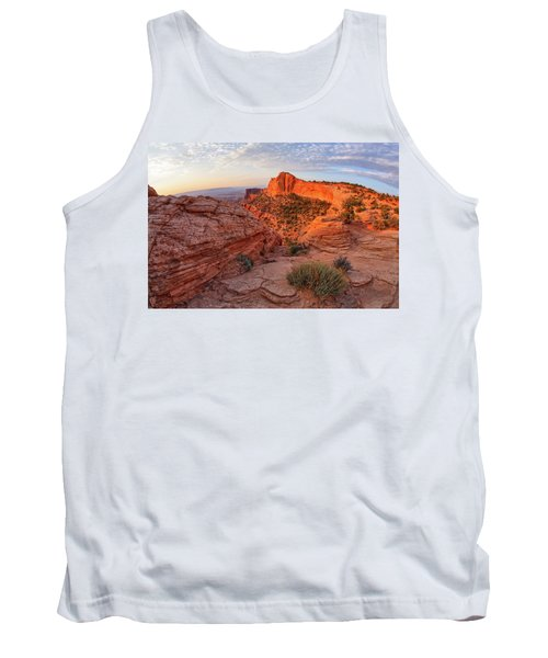 Mesa Arch Overlook At Dawn Tank Top