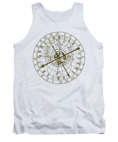 Metal Astronomical Clock Tank Top by Michal Boubin