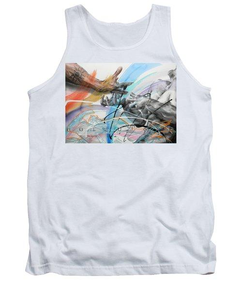 Tank Top featuring the painting Metamorphosis by J- J- Espinoza