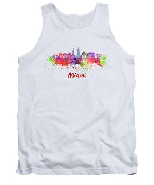 Miami V2 Skyline In Watercolor Tank Top