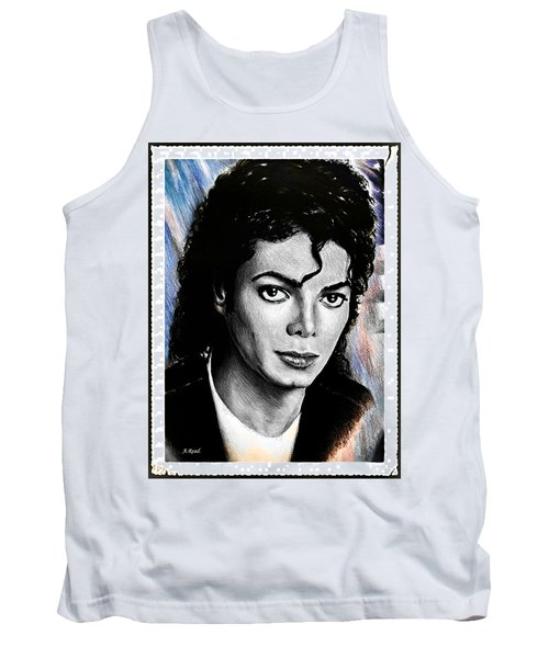 Michael Jackson Stamp Design Tank Top