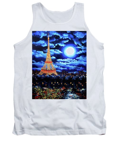 Midnight In Paris Tank Top by Laura Iverson