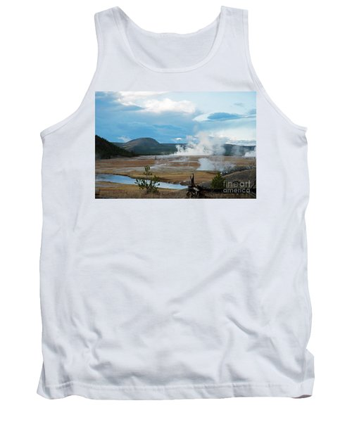 Midway Geyser Area Tank Top by Cindy Murphy - NightVisions