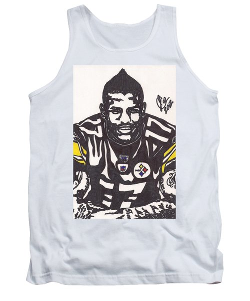 Tank Top featuring the drawing Mike Wallace 1 by Jeremiah Colley