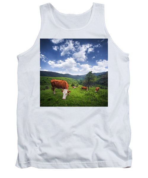 Tank Top featuring the photograph Milka by Bess Hamiti