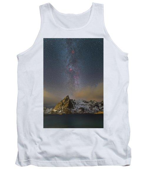 Milky Way In Lofoten Tank Top