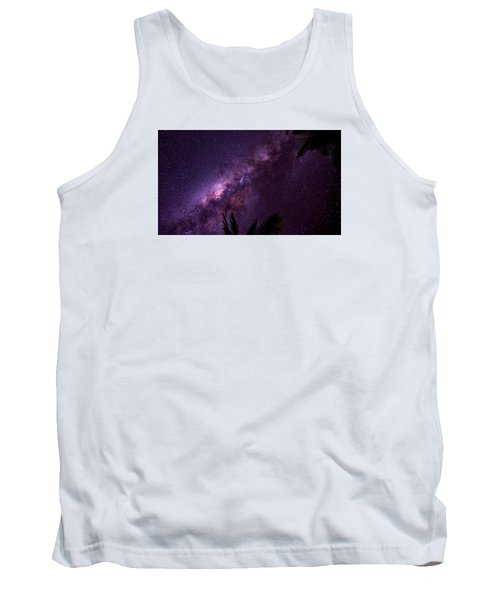 Milky Way Over Mission Beach Narrow Tank Top by Avian Resources