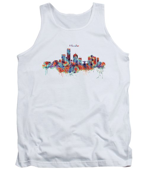 Milwaukee Watercolor Skyline Tank Top