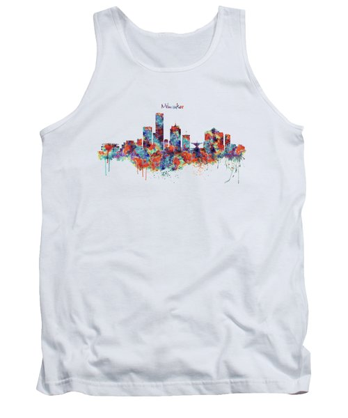 Milwaukee Watercolor Skyline Tank Top