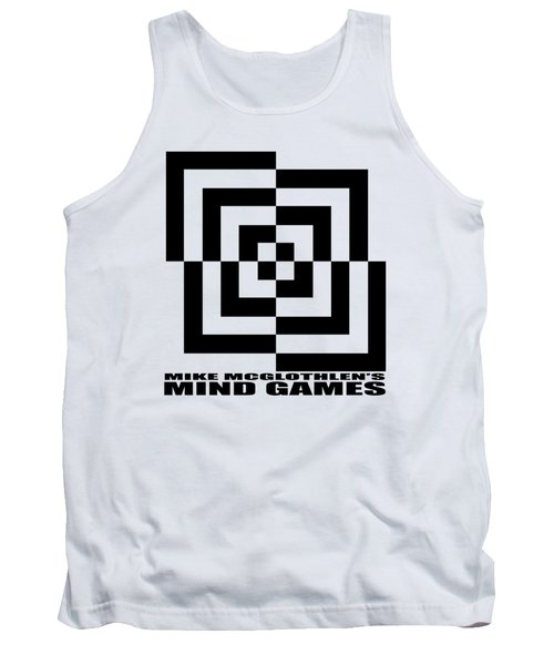 Tank Top featuring the drawing Mind Games 10se by Mike McGlothlen