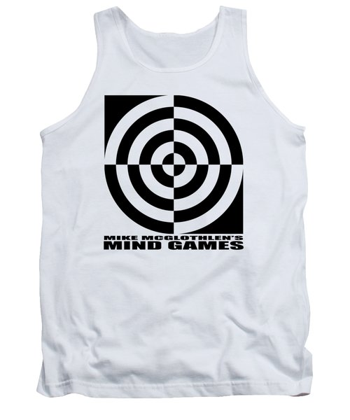 Tank Top featuring the drawing Mind Games 1se by Mike McGlothlen