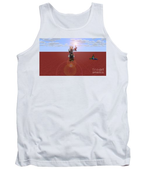 Tank Top featuring the digital art Minecraft Knight by Brindha Naveen