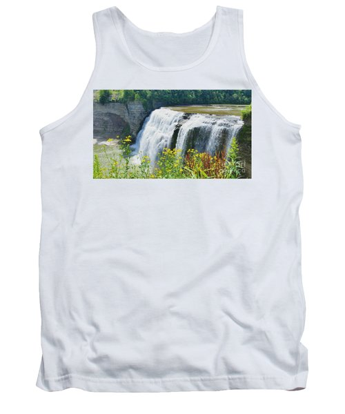 Tank Top featuring the photograph Mini Falls by Raymond Earley