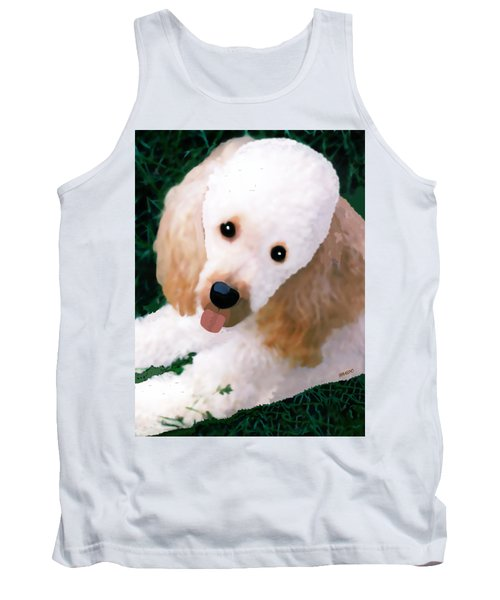 Tank Top featuring the photograph Miniature Poodle Albie by Marian Cates