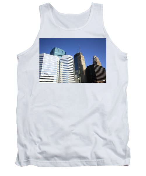 Tank Top featuring the photograph Minneapolis Skyscrapers 11 by Frank Romeo