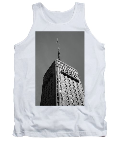 Tank Top featuring the photograph Minneapolis Tower 6 Bw by Frank Romeo