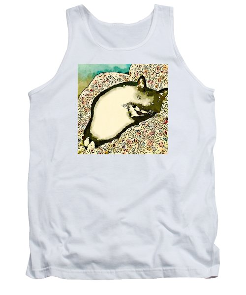 Tank Top featuring the photograph Minnie Siesta - Fashionable by Ronda Broatch