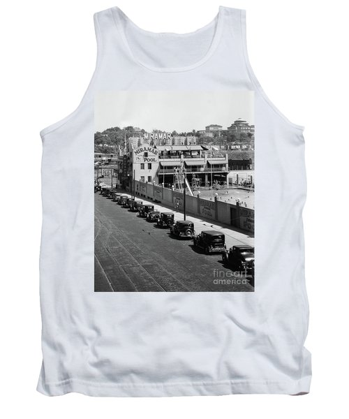 Tank Top featuring the photograph Miramar Saltwater Pool by Cole Thompson