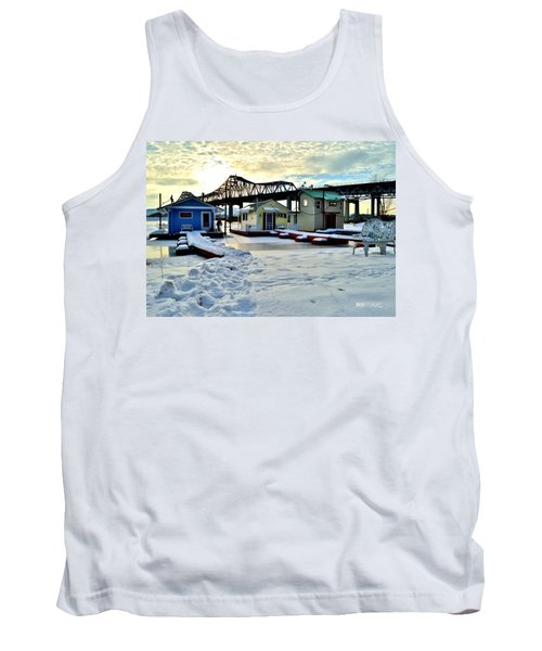 Mississippi River Boathouses Tank Top