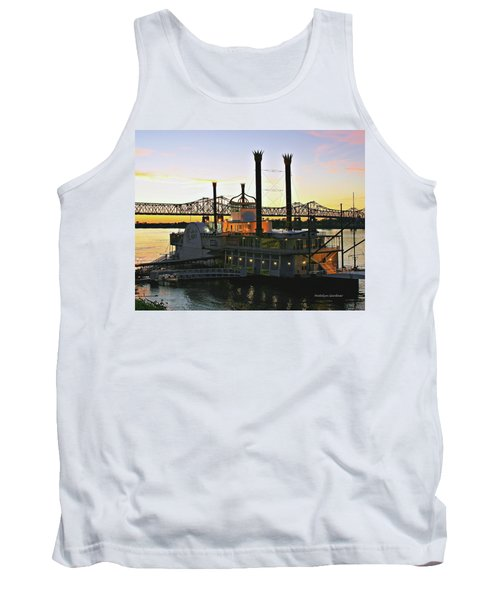 Mississippi Riverboat Sunset Tank Top