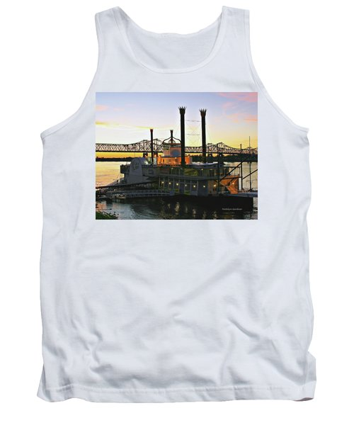 Mississippi Riverboat Sunset Tank Top