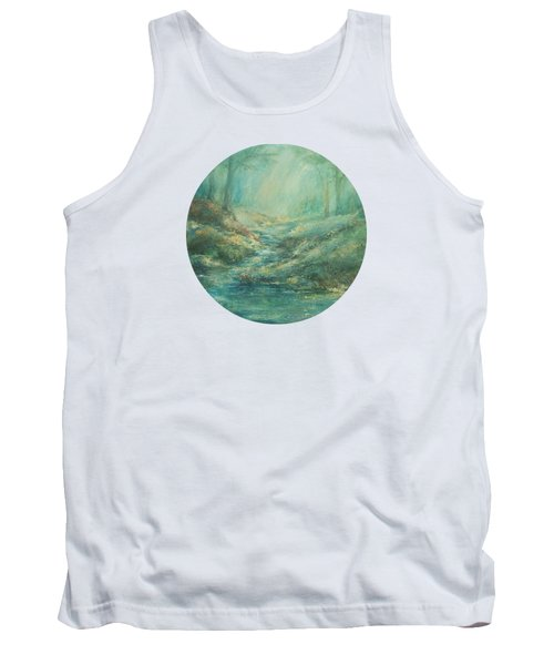 The Misty Forest Stream Tank Top by Mary Wolf
