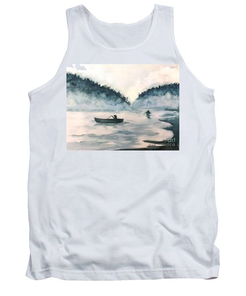 Misty Lake Tank Top by Lucia Grilletto