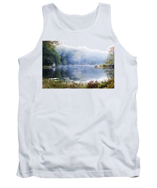 Tank Top featuring the photograph Misty Morning At John Burroughs #1 by Jeff Severson