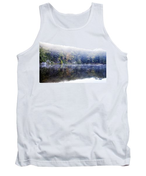 Tank Top featuring the photograph Misty Morning At John Burroughs #2 by Jeff Severson