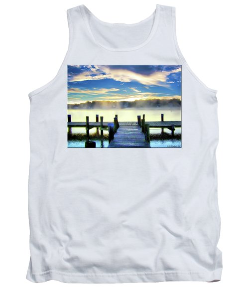 Tank Top featuring the photograph Misty Morning On Rock Creek by Brian Wallace