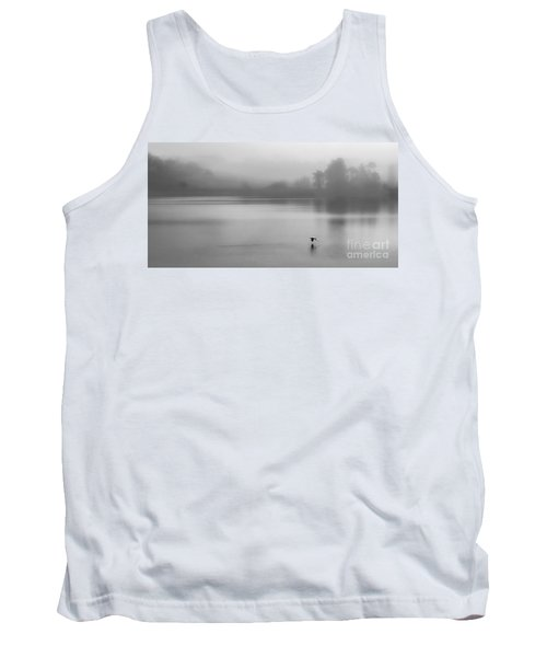 Misty Morning On The Lake Tank Top by Linsey Williams