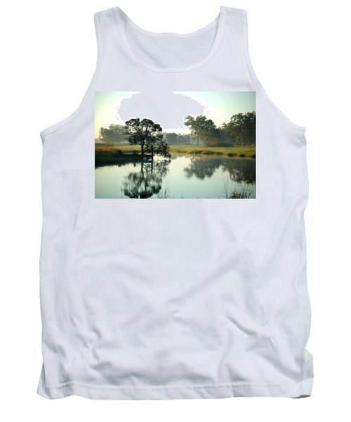 Misty Morning Pond Tank Top