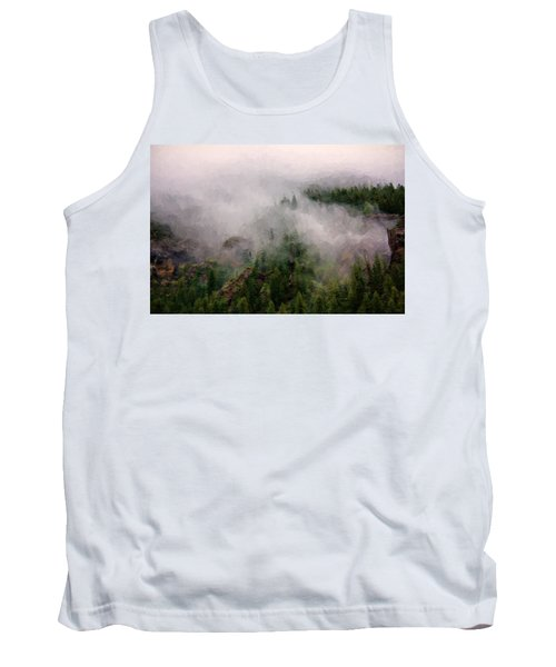 Tank Top featuring the photograph Misty Pines by Lana Trussell
